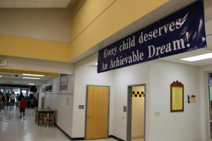 Hallway with AAD sign